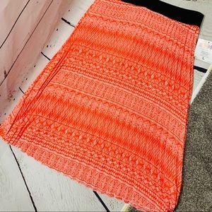 ❤️5/25 LULAROE NWT Jill Orange Pleated Midi Skirt